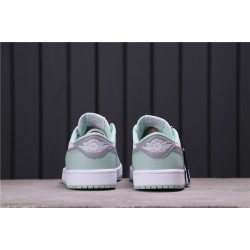 "Air Jordan 1 Low OG ""Neutral Grey"" CZ0790-100 Light Green White Grey"