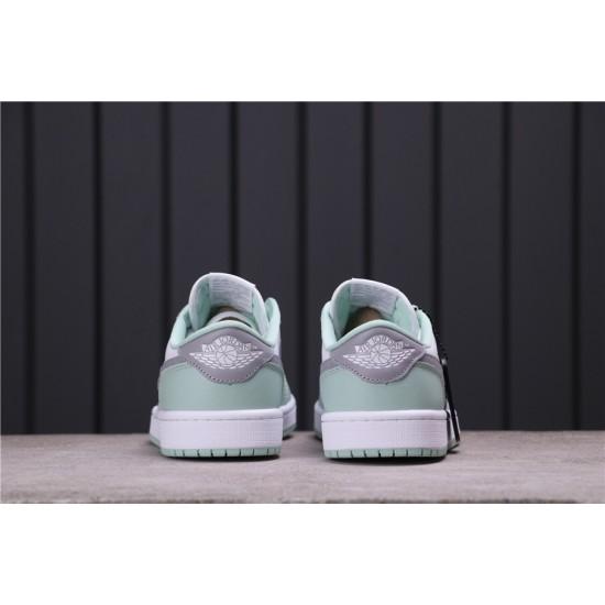 Air Jordan 1 Low OG Neutral Grey CZ0790-100 Light Green White Grey