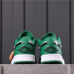 "Air Jordan 1 Low ""PINE GREEN"" 553558-301 Green White Black"