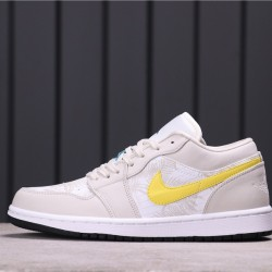 "Air Jordan 1 Low ""Palm Tree"" CK3022-107 Beige Yellow"