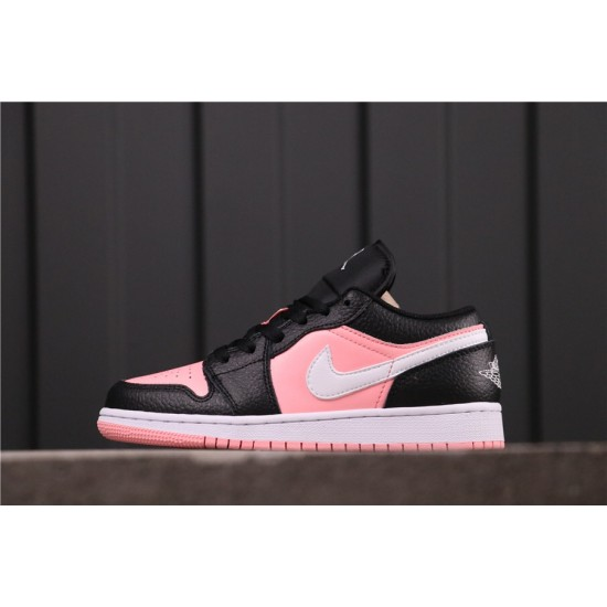 "Women Air Jordan 1 Low ""Pink Quartz"" 554723-016 Pink Black White"