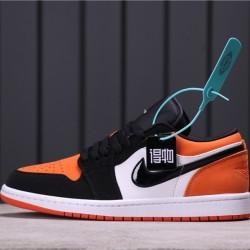 "Air Jordan 1 Low ""Shattered Backboard"" 553558-128 Orange Black White"