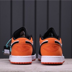 "Air Jordan 1 Low ""Shattered Backboard"" 553558-128 Orange Black White"