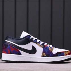 "Air Jordan 1 Low ""Sweater"" CZ8659-100 Dark Purple White"