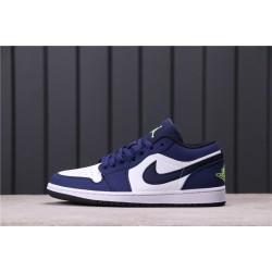 Travis Scott x Air Jordan 1 Low 553558-405 White Blue
