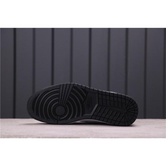 "Air Jordan 1 Mid ""Track Black Tiffney"" 554724-132 Blue White Black"