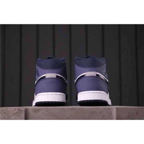 """Air Jordan 1 Mid """"Sanded Purple"""" 554724-445 Purple White Black"""