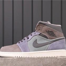 Air Jordan 1 Mid 852542-203 Grey Purple Brown