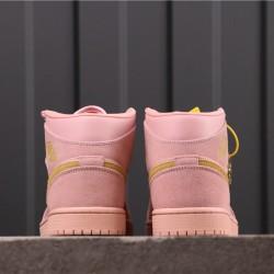 Air Jordan 1 Mid 852542-600 Pink Yellow