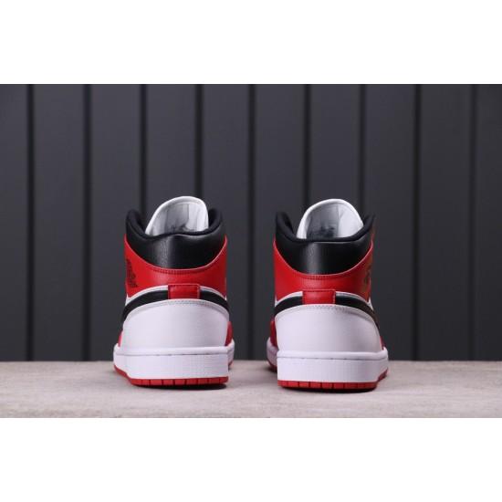 """Air Jordan 1 Mid """"Chicago"""" 554726-173 Red White Black"""