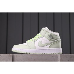 "Air Jordan 1 Mid ""BHM EQUALITY"" CV5280-103 White Green"
