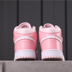 "Air Jordan 1 Mid ""Digital Pink"" CW5379-600 Pink White"