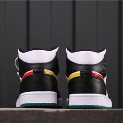 Air Jordan 1 Mid BQ6472-063 Black White Red Yellow