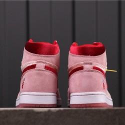 "Air Jordan 1 Mid ""Valentine's Day"" CT2552-800 Pink Red"