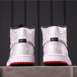 """CLOT x  Air Jordan 1 Mid """"Fearless"""" CU2804-100 White Black"""