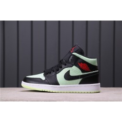 "Air Jordan 1 Mid ""Barely Colt"" CV5276-003 Green Black"