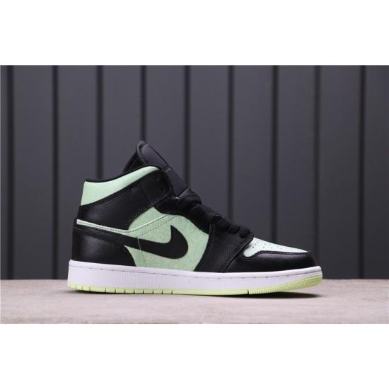"Air Jordan 1 Mid ""Barely Colt"" CV5276-003 Green Black"