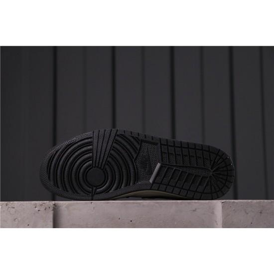 "Air Jordan 1 Mid ""CAMO"" CW5490-001 Gold White Black"