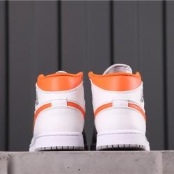 "Air Jordan 1 Mid ""EQUALITY"" CW7591-100 White Grey Orange"