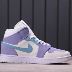"""Air Jordan 1 Mid """"Gets Made Over"""" DA4666-100 Purple White Blue"""