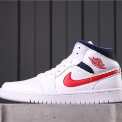 """Air Jordan 1 Mid """"Fearless"""" BQ6472-164 White Red"""