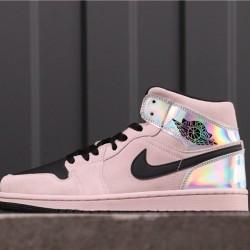 "Air Jordan 1 Mid ""Fearless"" BQ6472-602 Pink Silver Black"