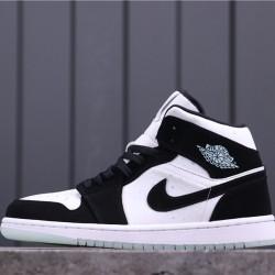 "Air Jordan 1 Mid GS ""Panda"" BQ6931-103 Black White"