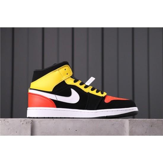 """Air Jordan 1 Mid """"Raygun"""" 852542-087 Yellow Black Red"""