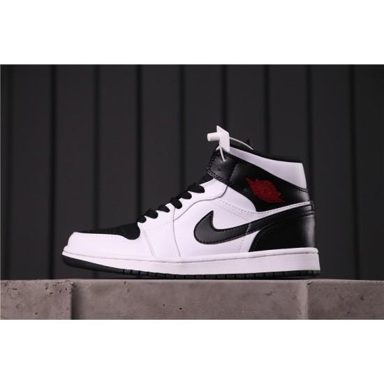 """Air Jordan 1 Mid """"Reverse Black"""" Toe BQ6472-101 Black White"""