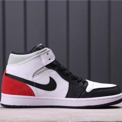 "Air Jordan 1 Mid SE ""Game Royal"" 852542-100 White Black Red"