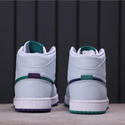 "Air Jordan 1 Mid SE ""Nike Hoops"" CW5853-100 White Green"