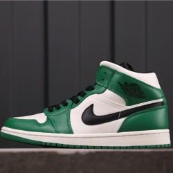 "Air Jordan 1 Mid SE ""Pine Green"" 852542-301 Green White Black"