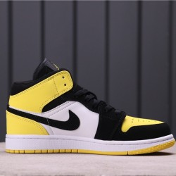 "Air Jordan 1 Mid SE ""Yellow Toe"" 852542-071 Yellow white Black"