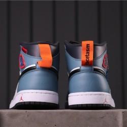 """Facetasm x Air Jordan 1 Mid """"Fearless"""" CU2802-100 Blue White Black"""