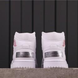 "Melody Ehsani x Air Jordan 1 Mid ""Fearless"" CW7589-100 All White Red"