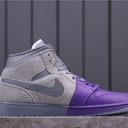 Sheila Rashid x Air Jordan 1 Mid CW5897-005 Grey Purple