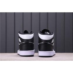 "WMNS Air Jordan 1 Mid ""Panda"" CV5276-103 Black White"