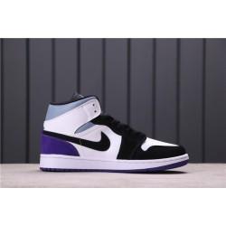 "WMNS Melody Ehsani x Air Jordan 1 Mid ""Fearless"" 852542-105 Purple Black White"