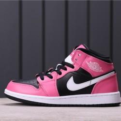 """Women Air Jordan 1 Mid """"Pink Sicle"""" 555112-002 Pink black"""