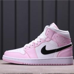 Women Air Jordan 1 Mid BQ6472-500 Pink White