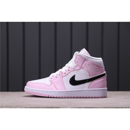 Women Air Jordan 1 Mid BQ6472-500 Pink White