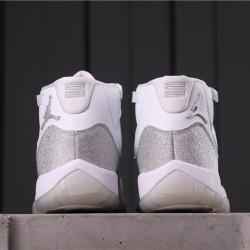 "Air Jordan 11 ""Metallic Silver"" AR0715-100 White Grey"