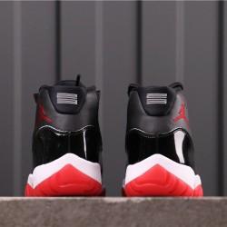 """Air Jordan 11 """"Bred"""" 378037-061 Black Red"""