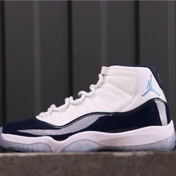 "Air Jordan 11 ""Win Like"" 378037-123 White Dark Blue"
