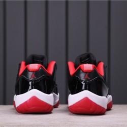 """Air Jordan 11 Low """"Bred"""" 528895-012 Black Red"""