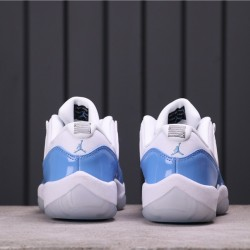 "Air Jordan 11 Low ""Columbia"" 528895-106 White Blue"