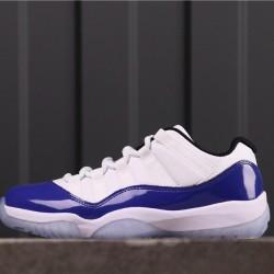 """Air Jordan 11 Low """"Concord"""" AH7860-100 White Blue"""