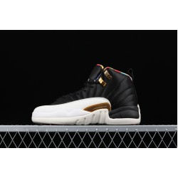 Air Jordan 12 Prm BQ6497-006 Black White Gold