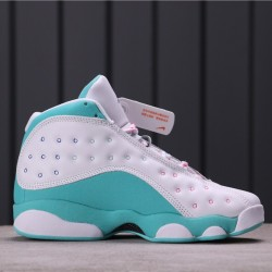 "Air Jordan 13 ""Aurora Green"" 439358-100 White Blue"