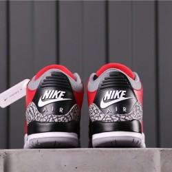 """Air Jordan 3 """"Red Cement"""" CK5692-600 Red Grey"""
